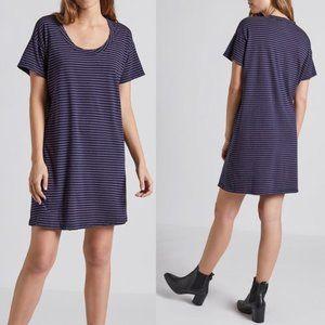Current Elliot striped tee shirt dress
